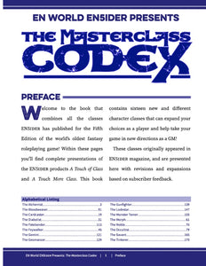 The Masterclass Codex HC