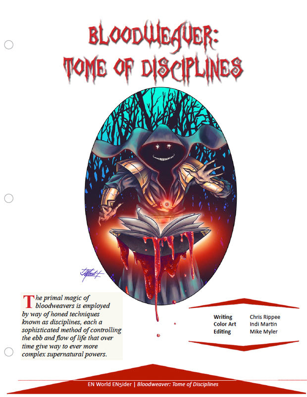 Bloodweaver: Tome of Disciplines