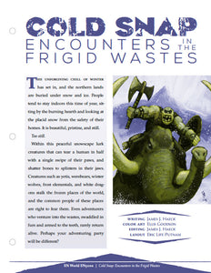 Cold Snap: Encounter in the Frigid Wastes
