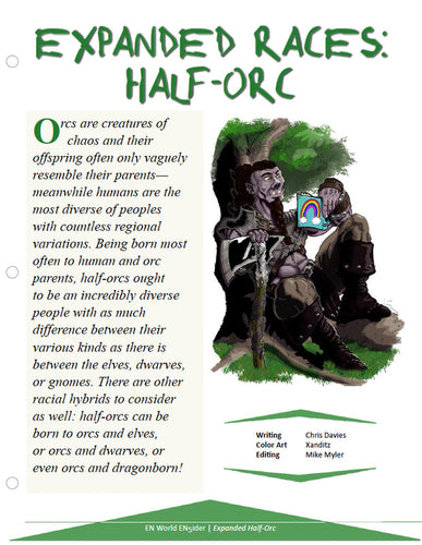 Expanded Races: Half-Orc