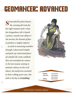 Geomancer: Advanced Class Information