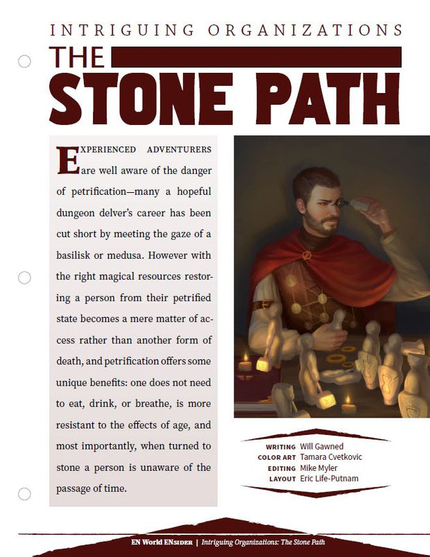 Intriguing Organizations: The Stone Path