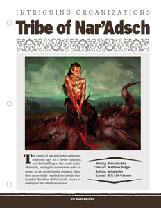 Intriguing Organizations: Tribe of Nar'Adsch