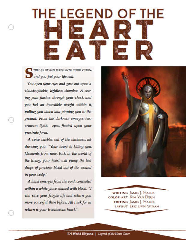 Legend of the Heart Eater: A Warlock Subclass