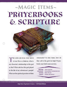 Magic Items: Prayerbooks & Scripture