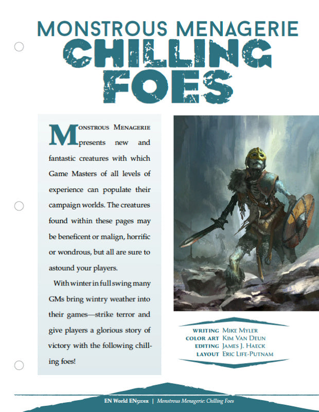 Monstrous Menagerie: Chilling Foes