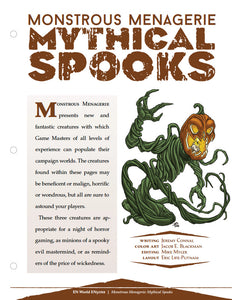 Monstrous Menagerie: Mythical Spooks