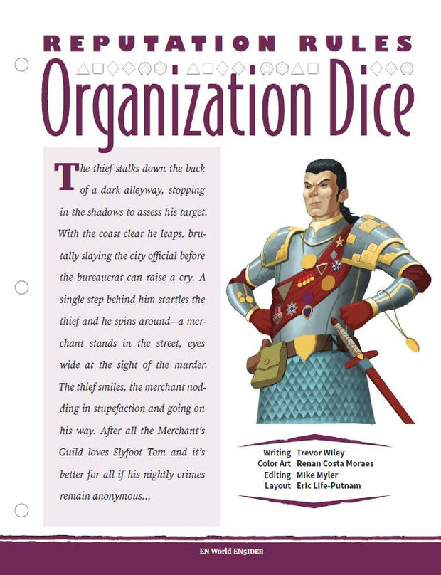 Reputation Rules: Organization Dice