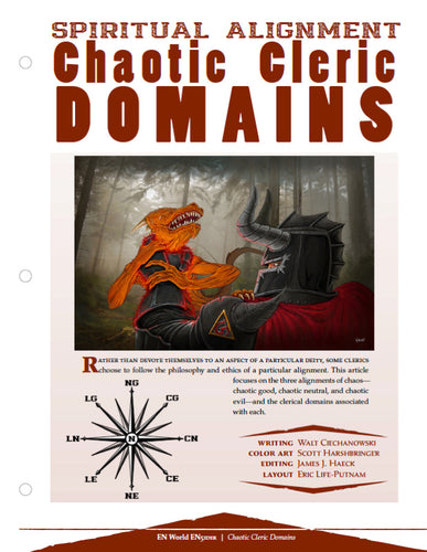Spiritual Alignment: Chaotic Cleric Domains