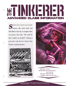The Tinkerer: Advanced Class Information