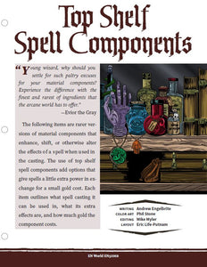 Top Shelf Spell Components