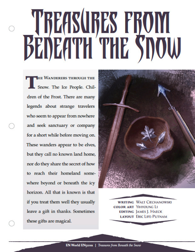 Treasures From Beneath The Snow