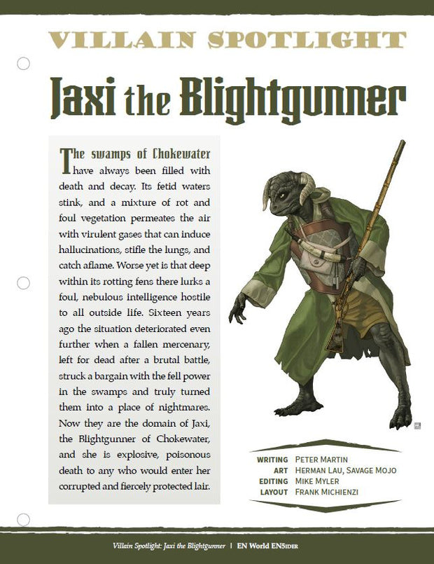 Villain Spotlight: Jaxi the Blightgunner