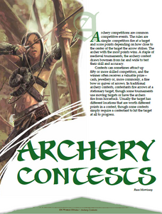 Archery Contests