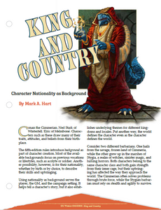 King & Country: Character Nationality as Background