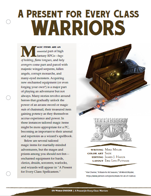 A Present for Every Class: Warriors