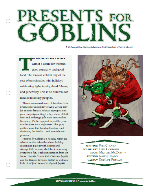 Presents for Goblins: A Holiday Romp!