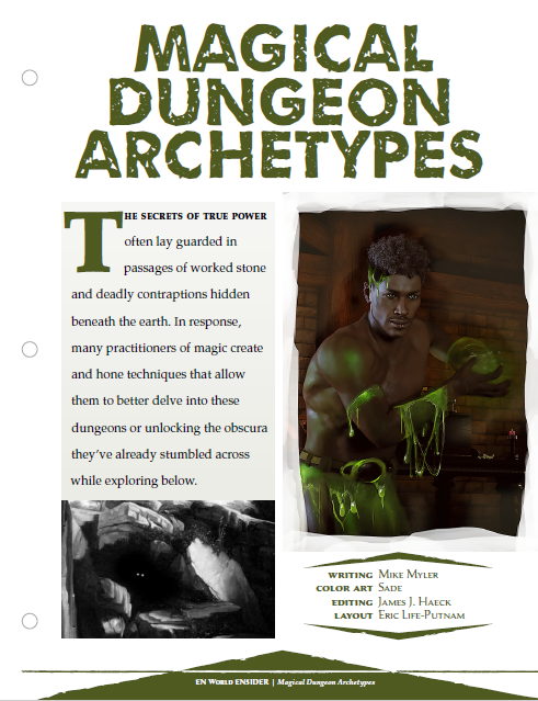 Magical Dungeon Archetypes