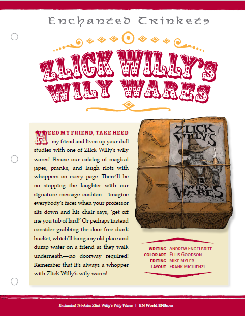 Enchanted Trinkets: Zlick Willy's Wily Wares