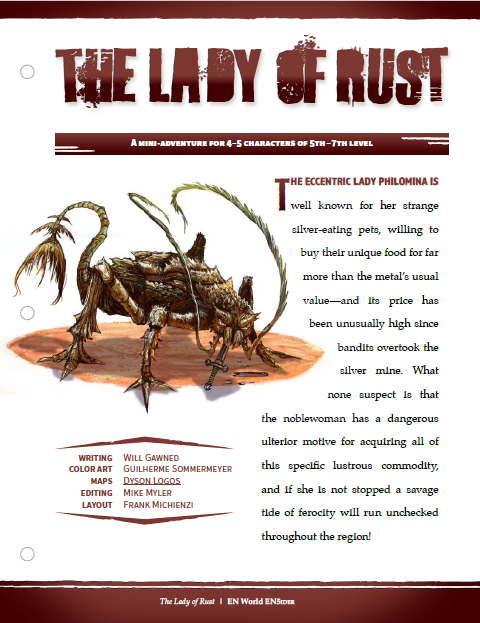 Mini-Adventure: The Lady of Rust