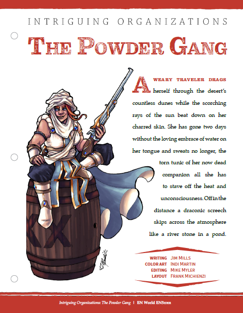 Intriguing Organizations: The Powder Gang