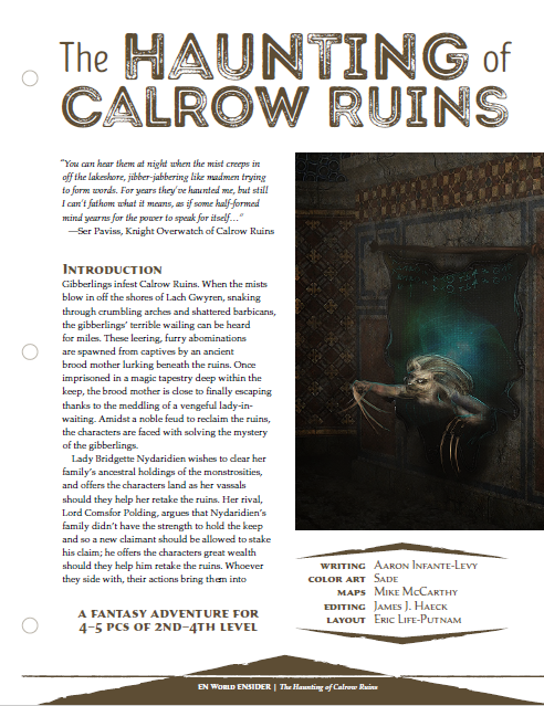 The Haunting of Calrow Ruins