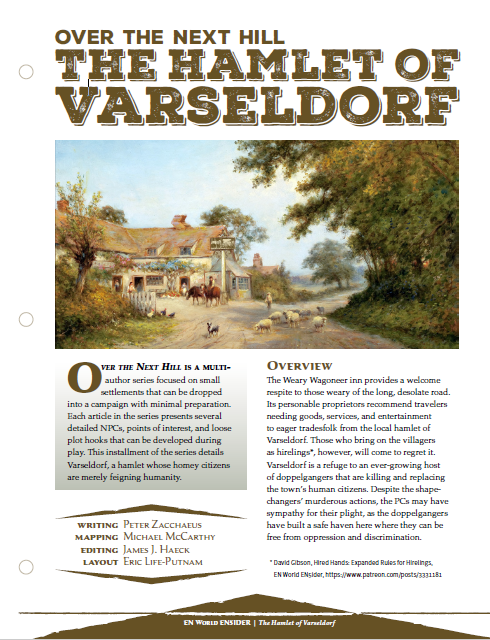 Over the Next Hill: The Hamlet of Varseldorf