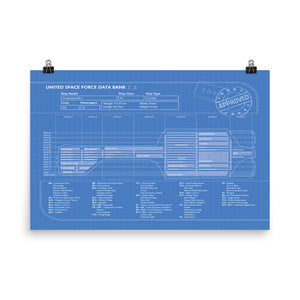 Endeavour Class XI Cruiser Poster Map (4160863404141)