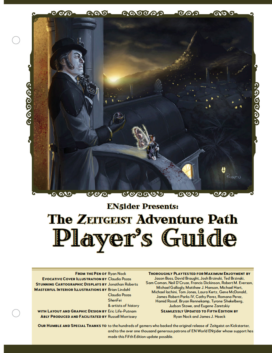ZEITGEIST: The Gears of Revolution Player's Guide (4189116891245)