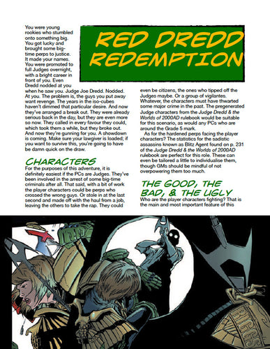 Judge Dredd Case File #5: Red Dredd Redemption