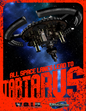 Load image into Gallery viewer, All Space Lanes Lead To Tartarus Poster (4188631892077)