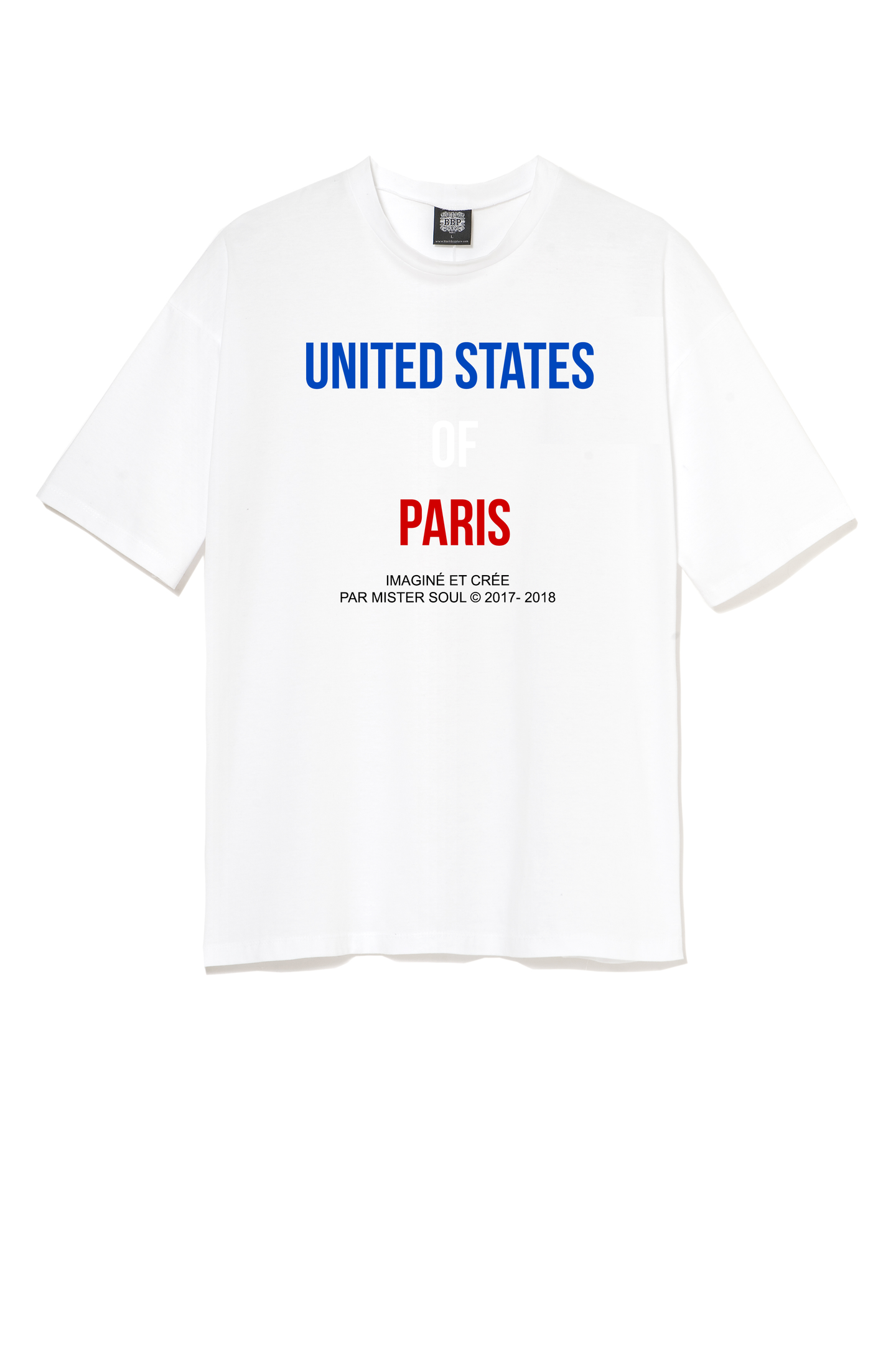 T-SHIRT STREETWEAR - UNITED STATES OF PARIS - LEROYAUME