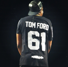 Load image into Gallery viewer, Leroyaume t-shirt streetwear TOM FORD 61 blanc porté part JAY-Z concert MCHG