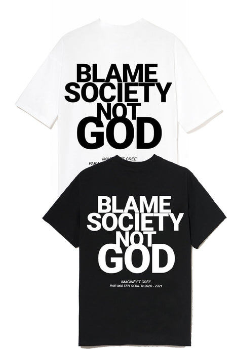 Leroyaume T-shirt Blame Society Not God LOT