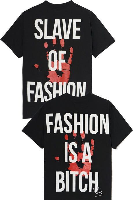 LEROYAUME Lot de 2 T-shirt Slave of Fashion et Fashion is a bitch