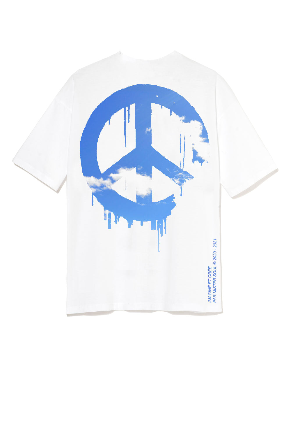 T-SHIRT GRAPHIC - PEACE & FREEDOM BLUE SKY - LEROYAUME
