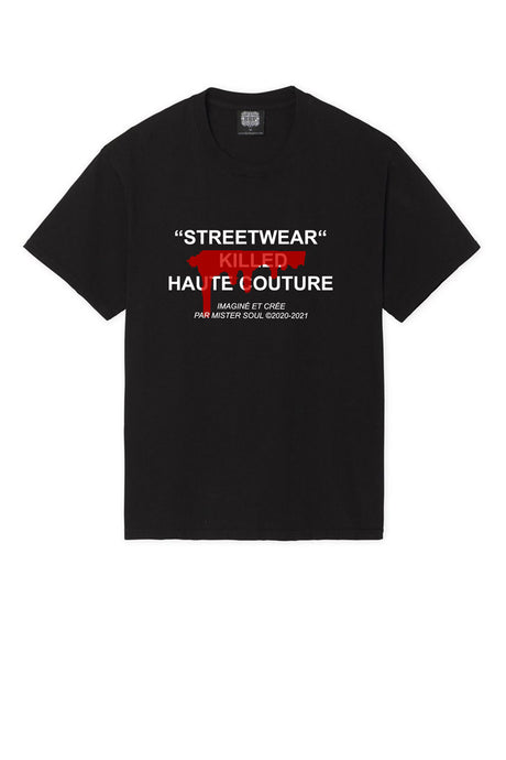 Leroyaume T-shirt Streetwear Killed Haute Couture Black Face