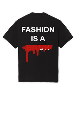 Leroyaume T-shirt Streetwear Fashion is a Bitch Version 2 black Dos