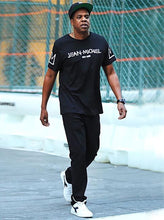 Load image into Gallery viewer, Leroyaume T-shirt Streetwear Jean-michel Basquiat New York  Black Porté Par Jay-z