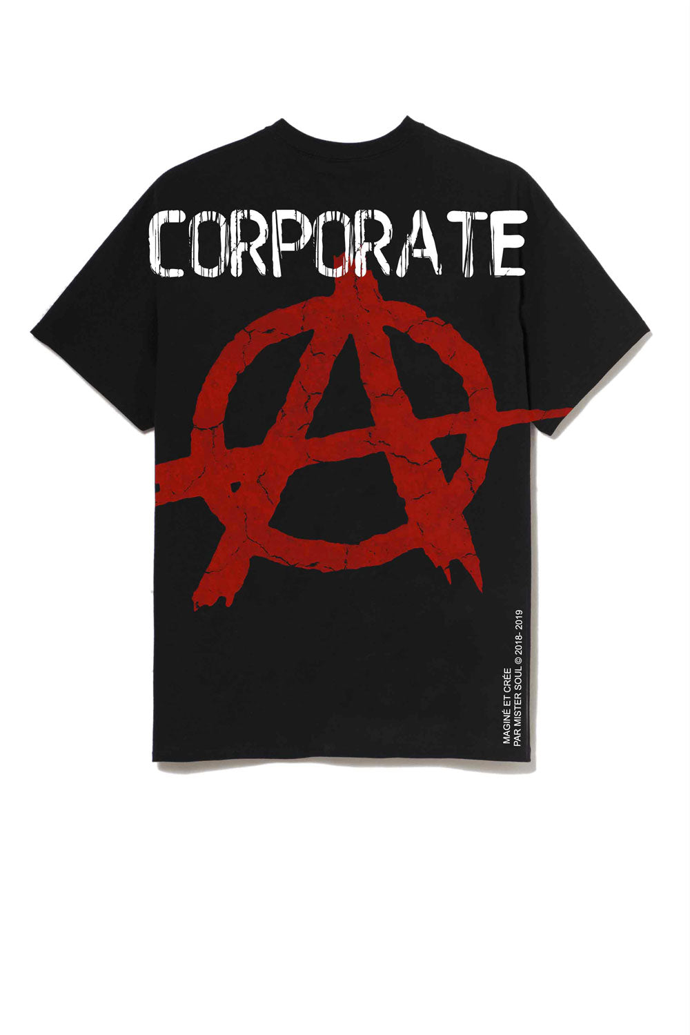 Leroyaume T-shirt Streetwear Corporate Arnachy Black Dos