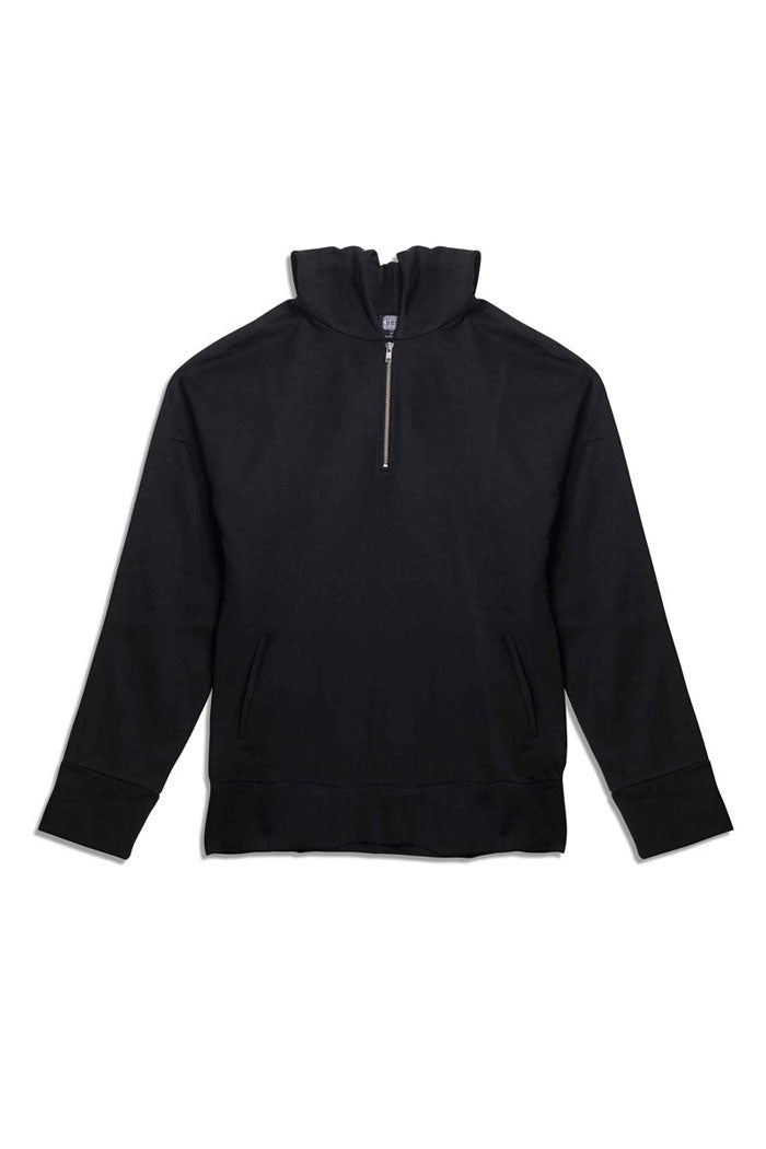 Leroyaume Sweat-shirt à Capuche Oversized Noir Face