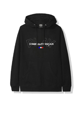 Leroyaume Sweat-shirt à Capuche Streetwear Play Comme Des Français Black Face