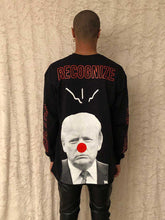 Load image into Gallery viewer, Leroyaume T-shirt Streetwear Manche Longue Donald Trump Noir Porté Dos