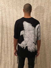 Load image into Gallery viewer, Leroyaume T-shirt Oversize Freedom Eagle black dos porté