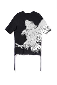 Leroyaume T-shirt Oversize Freedom Eagle black dos