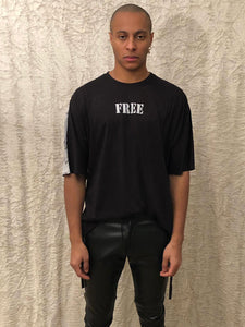 Leroyaume T-shirt Oversize Freedom Eagle black face porté