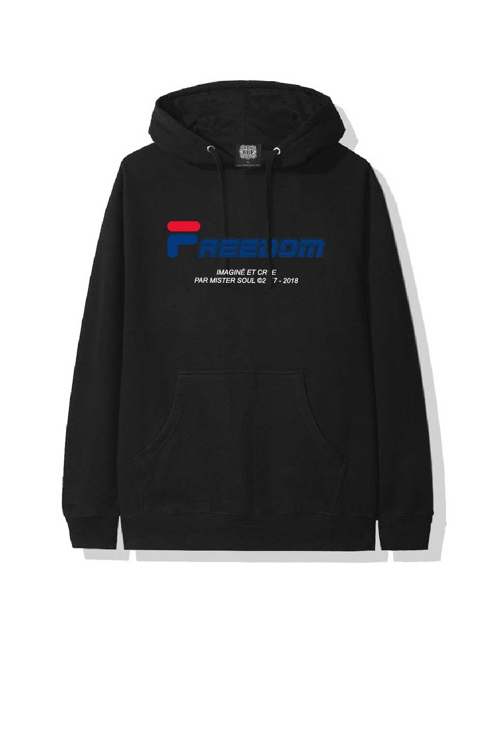 Leroyaume Sweat-shirt à capuche streetwear FREEDOM FILA black face