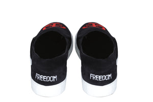 Leroyaume sneaker SLIP ON FREEDOM black DOS