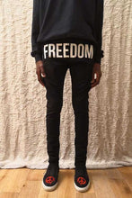 Load image into Gallery viewer, Leroyaume pantalon skinny FREEDOM NOIR porté face