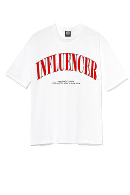 Leroyaume t-shirt streetwear INFLUENCER blanc face